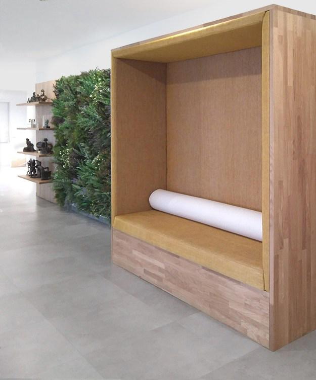 Proyecto de Diseño de sala de espera para las oficinas de Ilunion Madrid